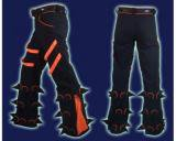 <img class='new_mark_img1' src='//img.shop-pro.jp/img/new/icons16.gif' style='border:none;display:inline;margin:0px;padding:0px;width:auto;' />【SPACETRIBE】SPIKEY PANTS:BLACK & UV ORANGE