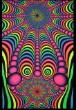 <img class='new_mark_img1' src='//img.shop-pro.jp/img/new/icons1.gif' style='border:none;display:inline;margin:0px;padding:0px;width:auto;' />【SPACETRIBE】UV Wallhanging : Psyblaster Fractaleyes