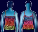 【SPACETRIBE】STRAP TOP : RAINBOW FRACTAL