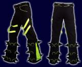 【SPACETRIBE】SPIKEY PANTS BLACK & UV YELLOW
