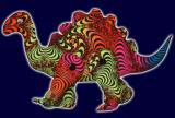 <img class='new_mark_img1' src='//img.shop-pro.jp/img/new/icons16.gif' style='border:none;display:inline;margin:0px;padding:0px;width:auto;' />【SPACETRIBE】Disco Dino : Rainbow Fractal