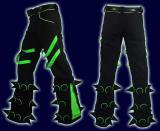 【SPACETRIBE】SPIKEY PANTS BLACK & UV LIME