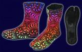 【SPACETRIBE】NINJA BOOT RAINBOW FRACTAL
