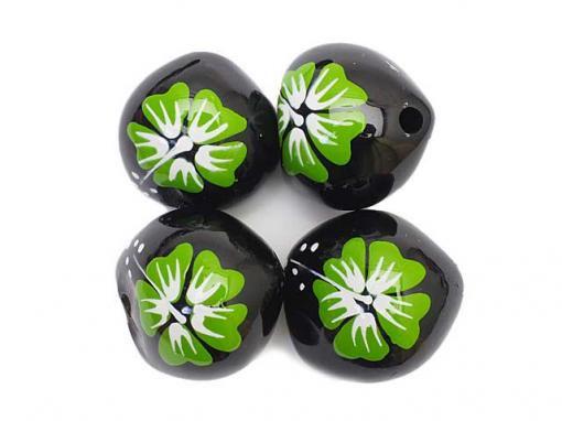 新!Old Style Green Hibiscus Kukui Nuts [4Pcs.]