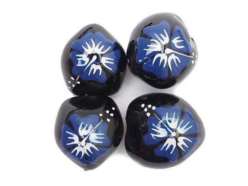 新!Old Style Blue Hibiscus Kukui Nuts [4Pcs.]