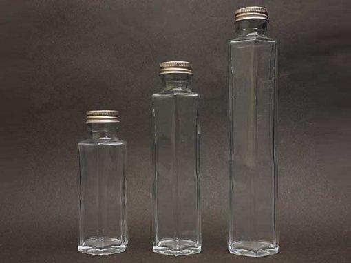 新!ハーバリウム用 ガラスボトル 六角
