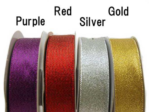 "7/8""×25Yds Nylon Metallic Teffeta"