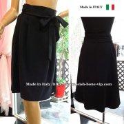 SALE/セール |イタリア/RINASCIMENTO | リナシメント | ボックスプリーツスカート ベルトリボン/ブラック(M)