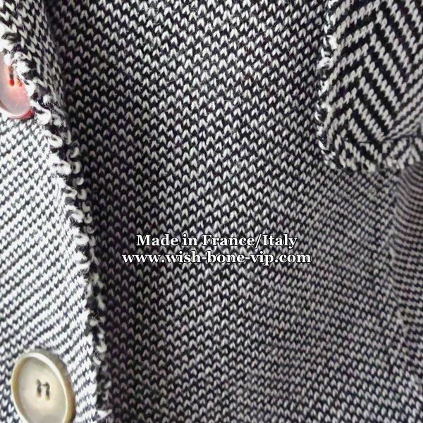 【クーポン使用でさらに割引(201w)】【イタリア製/ITALY】 変わりボタン&切り替え織り 厚地ジャケット/グレー系の画像