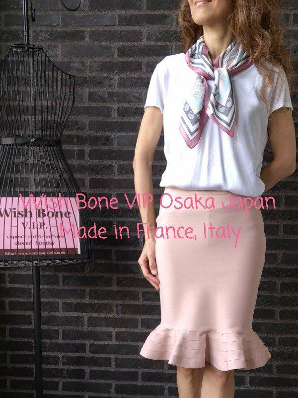 【フランスインポート】70cmスクエア SILK&ビスコース ツヤスカーフ/ピンク系ペーズリーの画像