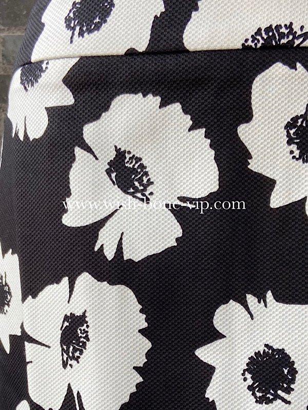 イタリア製インポート|タイトスカート|MadeinItaly|ワッフルコットン|ブラック&ホワイトフラワー(S)の画像