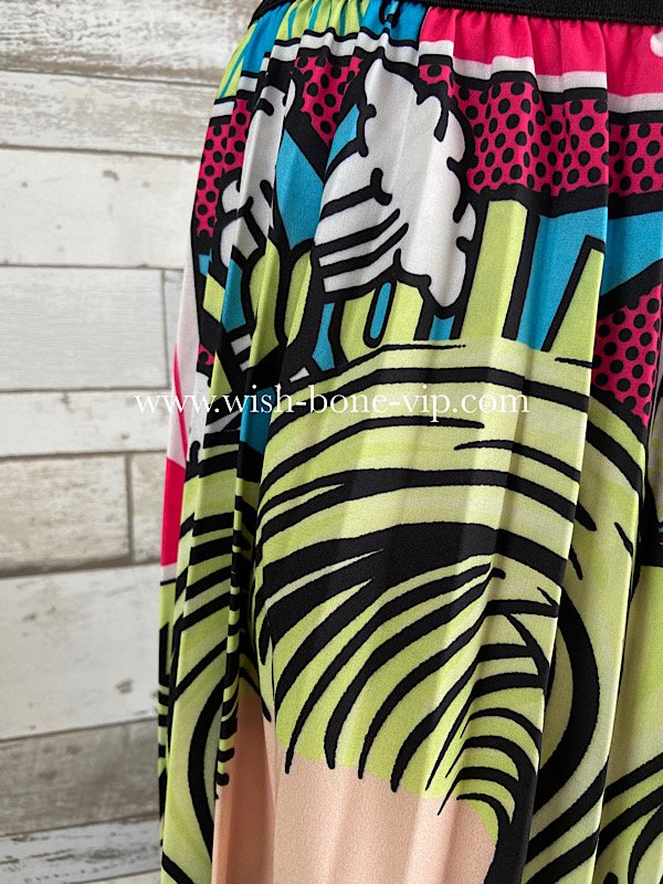 USA/LAインポート/プリーツ ロング丈マキシスカート/POPアメリカンガールの画像