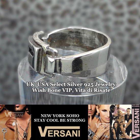 NEW YORK|VERSANI/ベルサーニ|シルバー925 |ロゴ入りリング/プレートデザインプレーンの画像