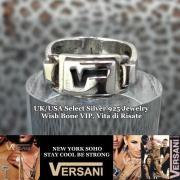【NEW YORK】VERSANI/ベルサーニ シルバー925  ロゴ入り リング/プレーン