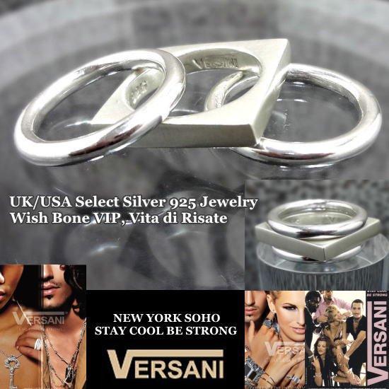 NEW YORK|VERSANI/ベルサーニ|シルバー925リング|3連タイプ/スクエアの画像