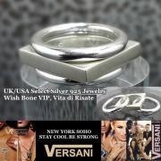 【NEW YORK】VERSANI/ベルサーニ シルバー925リング 3連タイプ/スクエア