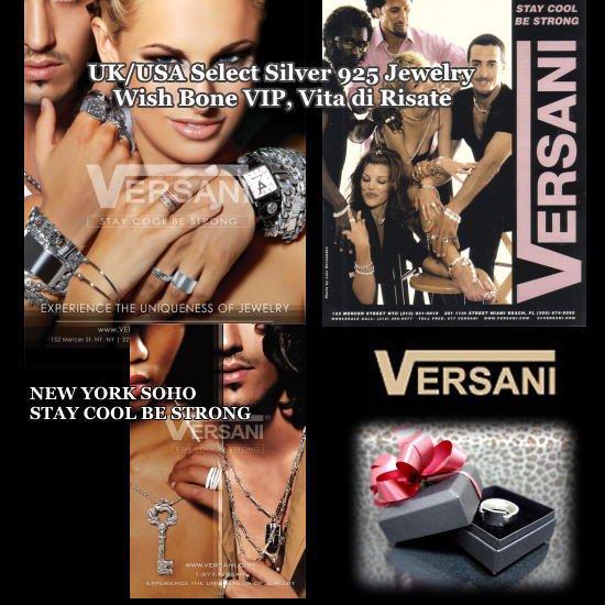 【NEW YORK】VERSANI/ベルサーニ シルバー925リング 3連タイプ/チェックの画像