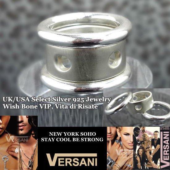 NEW YORK|VERSANI/ベルサーニ|シルバー925リング|3連タイプ/穴あきドットの画像