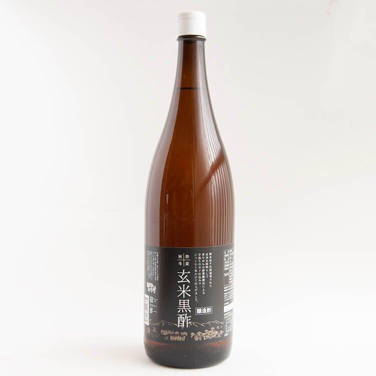 春夏秋冬・玄米黒酢 1800ml ※自然栽培米を使用した、静置発酵法によるカメ仕込みのオリジナル黒酢