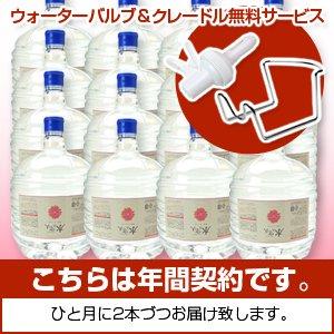 【年間契約・送料込み】水の守り人〜菊池ミネラル水〜 12リットルボトル×1年分(24本)