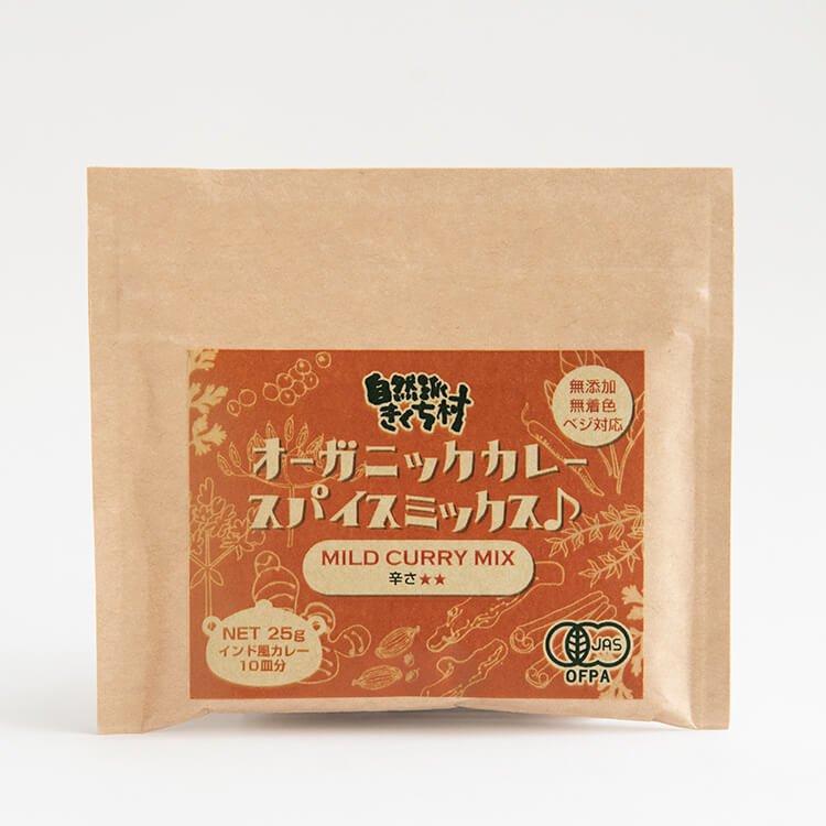 【メール便】オーガニックカレースパイス【辛さ★★】25g(10皿分)