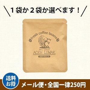 【メール便】岩下珈琲 アチェ・ルワック ドリップバッグ10g(農薬不使用コーヒー・インドネシア産)