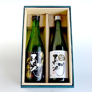 【ギフト】「菊池川」純米大吟醸720ml&純米吟醸720ml 計2本入り箱 ※熨斗付可能