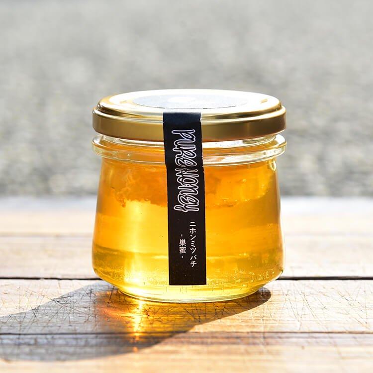 原田さんのハチミツ(ニホンミツバチの巣蜜(蜂の巣入)・非加熱)150g