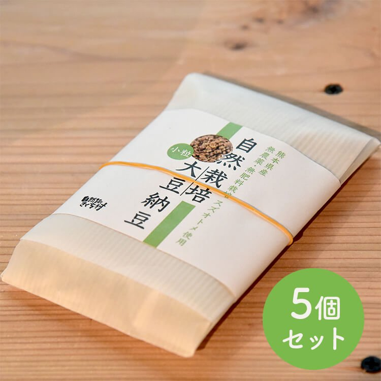 自然栽培大豆納豆(スズオトメ)小粒 100g 5個セット