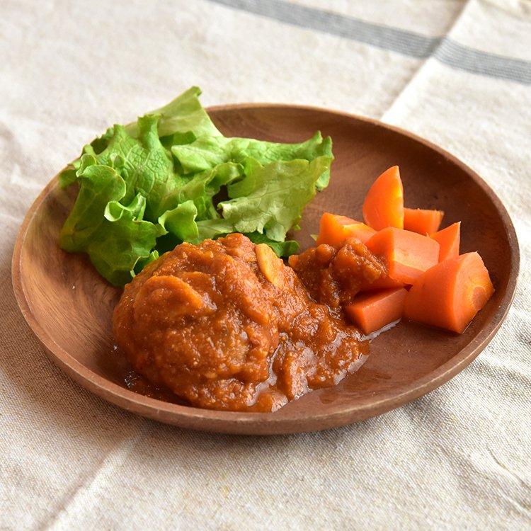 ジャージー仔牛と走る豚の煮込みハンバーグ 1個【冷凍】