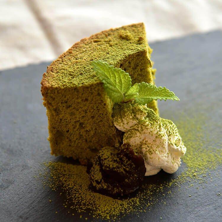 米粉の緑茶シフォンケーキ (直径約13cm)
