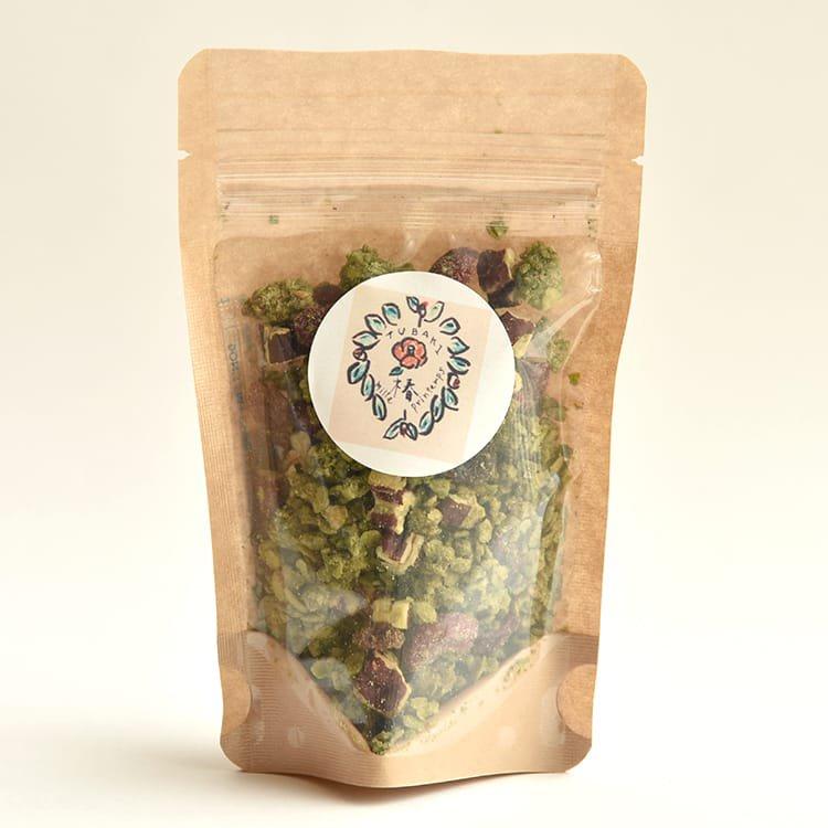 椿さんのグラノーラ(ヨモギとスギナ)50g グルテンフリー・自然栽培米使用