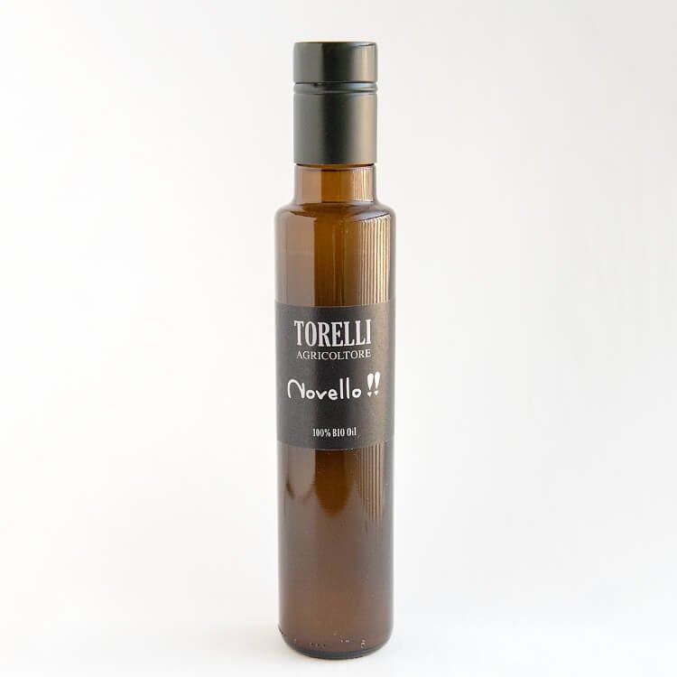 限定60本:TORELLI 初摘みオリーブオイル「ノヴェッロ」250ml(有機:イタリア産)