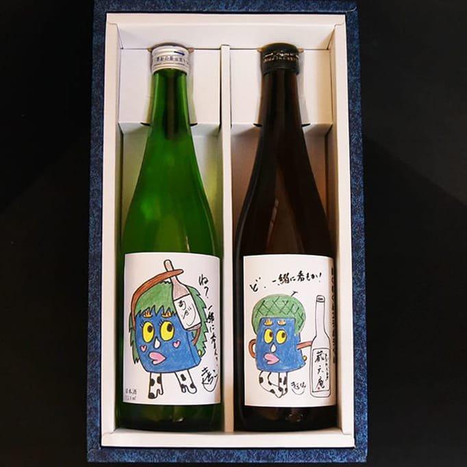 【ギフト】きくちくんラベルver.熊本の酒2本セット「米焼酎・蔵六庵25度」「純米吟醸・菊池川」 各720ml ※熨斗付可能