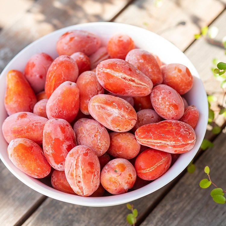 ららま農園の加工用トマト 1kg(割れなど訳あり)【冷凍】