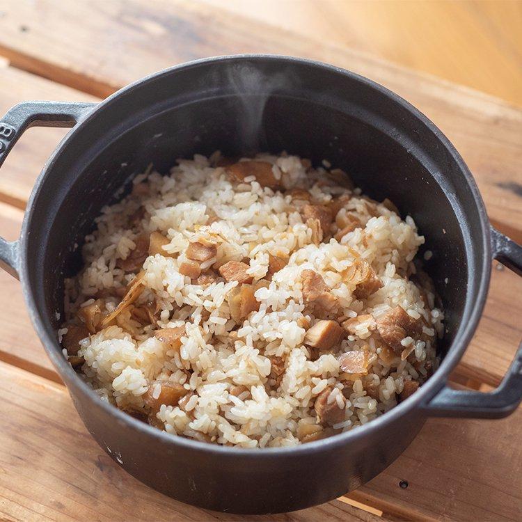 きくち村の赤どりを使った鶏めしの素(2合用)【冷凍】