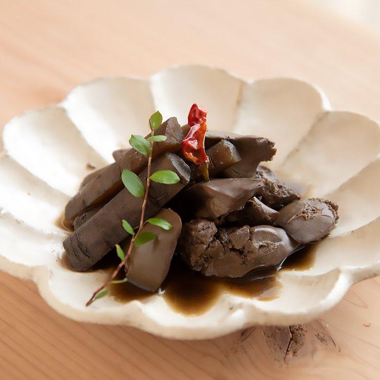 赤どりレバーと水田ごぼうの煮物【冷凍】150g
