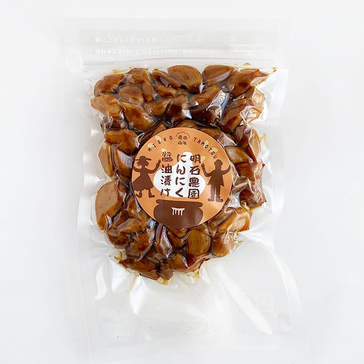 明石農園のにんにく醤油漬け(阿蘇産山・自然農法)約150g