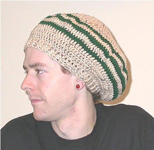ドレッドヘア ラージ用ドレッド ハンドメイド コットン タム帽(ドレッド帽子)