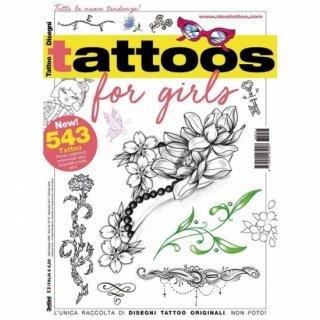 Tattoos for Girls 女性向け ガールズ 下絵 タトゥーデザイン本