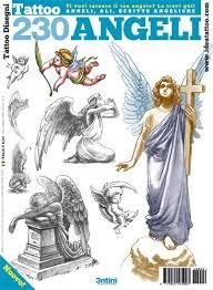 イタリア直輸入 230種 エンジェル 天使 下絵 タトゥーデザイン本