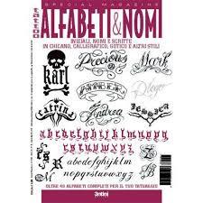 イタリア直輸入 アルファベット&ナンバー数字 下絵 タトゥーデザイン本