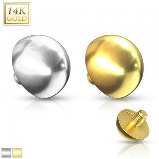 【14金】マイクロダーマル インターナルトップ 14G用 イエローゴールド ホワイトゴールド