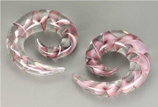 パイレックスグラス製 パープルリボン スパイラル型 拡張器