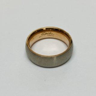 ローズゴールド/ステンレスブラシ ツートーン 指輪