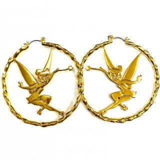 Disney Couture Tinker Bell Hoop Earrings ティンカーベル ピアス Magic
