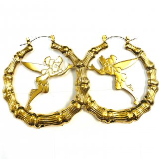 Disney Couture Tinker Bell Hoop Earrings ティンカーベル ピアス lock