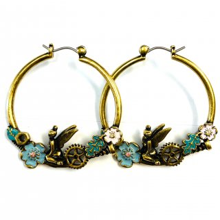 Disney Couture Tinker Bell Hoop Earrings ティンカーベル ピアス Gear