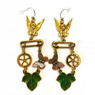 Disney Couture Tinker Bell Woodland Earrings ティンカーベル ピアス ウッドランド