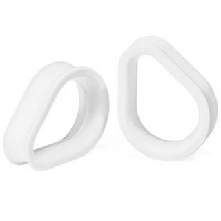 Kaos Softwear カオスソフトウェア ハイドラアイレットプラグ 00G~50.8mm ホワイト